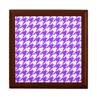 Violettes Hahnentrittmuster 1 Erinnerungskiste