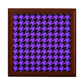 Violettes Hahnentrittmuster 2 Geschenkbox