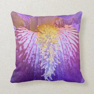Violettes Iris-Kissen Kissen