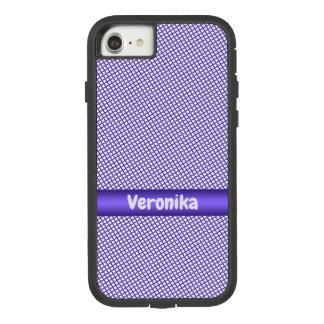 Violettes kleines kariertes Muster Case-Mate Tough Extreme iPhone 8/7 Hülle