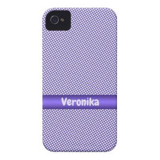 Violettes kleines kariertes Muster iPhone 4 Etuis
