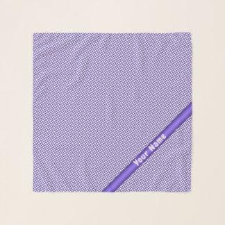 Violettes kleines kariertes Muster Schal