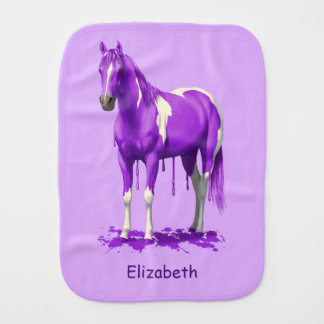 Violettes lila Bratenfett-nasses Farben-Pferd Spucktuch