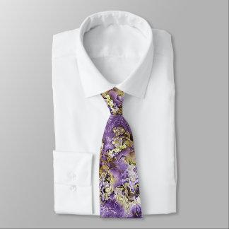Violettes lila Imitat-Goldmineral-Achat-Muster Personalisierte Krawatte
