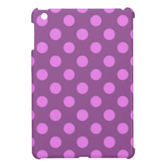 Violettes lila Polka-Punkt-Muster Girly Trendy iPad Mini Cover