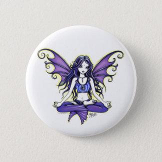 """""""Violettes Lotus"""" Yoga schicker Pinback Knopf Runder Button 5,1 Cm"""
