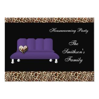 violettes Sofa des Chic, Party Einladung