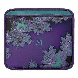 Violettes tadelloses Fraktal Sleeve Für iPads