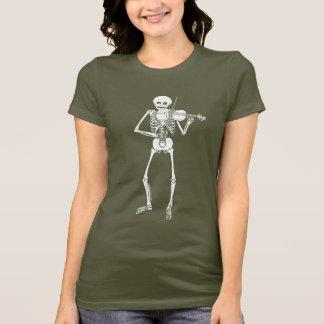 Violine, die Skelett spielt T-Shirt