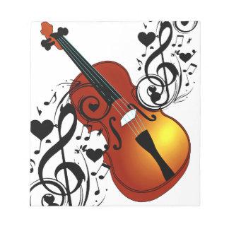 Violine, Liebhaber bei Heart_ Notizblock