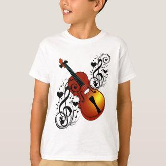 Violine, Liebhaber bei Heart_ T-Shirt