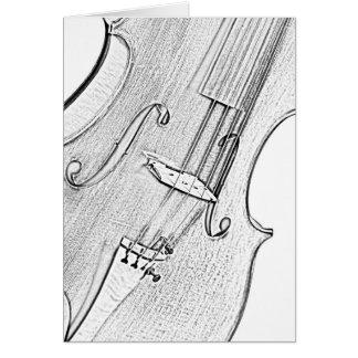 Violine oder Viola-Tinte, die Gruß-oder Karte