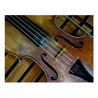 Violine Postkarte