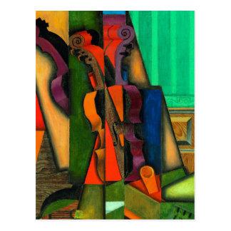 Violine und Gitarre durch Juan Gris Postkarte