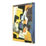 Violine und Glas durch Juan Gris, Vintager Leinwand Drucke