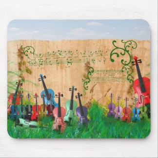 Violinen-Garten Mauspad