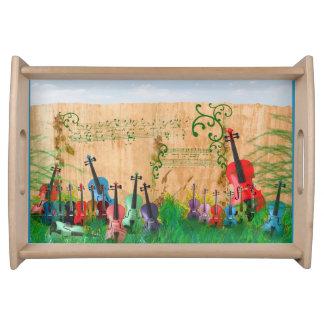 Violinen-Garten Tablett