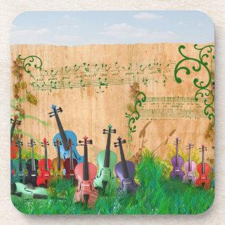 Violinen-Garten Untersetzer