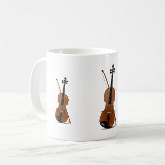 Violinen-Liebhaber, musikalische Kaffeetasse