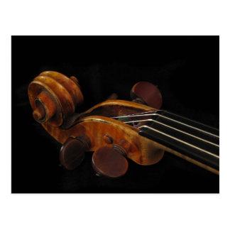Violinen-Rolle Postkarte