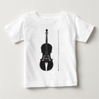 Violinen-Silhouette 2 Baby T-shirt