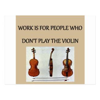 Violinenspieler-Geschenk-T - Shirts Postkarte