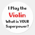 Violinenspieler Runder Aufkleber