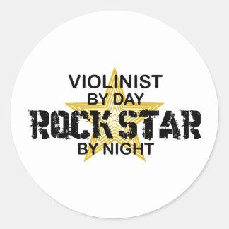 Violinist-Rockstar bis zum Nacht Runder Sticker
