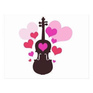 violinlove postkarte