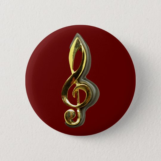 violinschlüssel treble clef runder button 5,7 cm