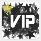 VIP QUADRATISCHER AUFKLEBER