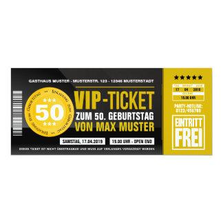VIP-TICKET Einladungskarten (ocker-orange)
