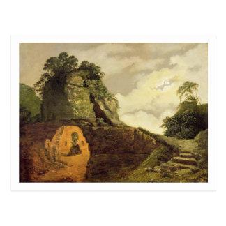 Virgils Grab durch Mondschein mit Silius Italicus, Postkarte