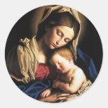 Virgin Mary Assumption Stickers