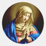 Virgin Mary in Prayer Stickers