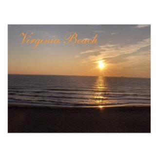 Virginia Beach am Sonnenuntergang Postkarte