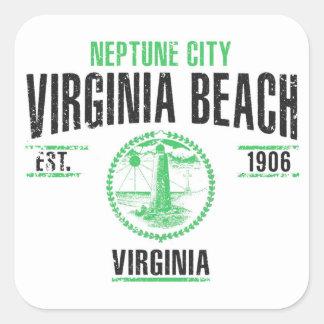Virginia Beach Quadratischer Aufkleber