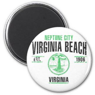 Virginia Beach Runder Magnet 5,7 Cm