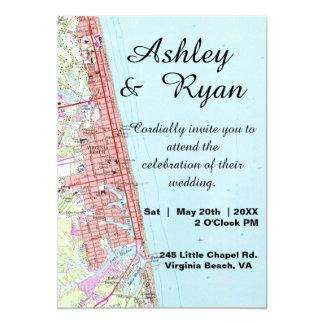 Virginia- Beachkarten-Hochzeits-Einladung Karte