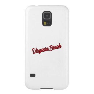 Virginia- BeachLeuchtreklame im Rot Samsung S5 Hülle