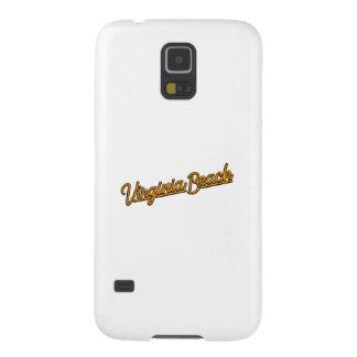 Virginia- BeachLeuchtreklame in der Orange Samsung S5 Hülle