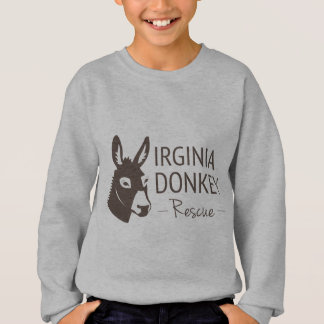 Virginia-Esel-Rettungs-Logo-Einzelteile Sweatshirt