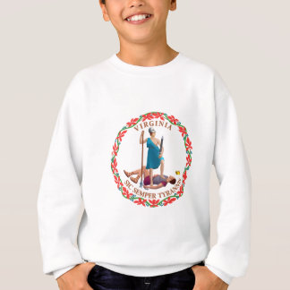 Virginia-Flaggen-Thema 01 Sweatshirt