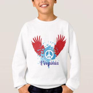 Virginia-Friedenszeichen Sweatshirt