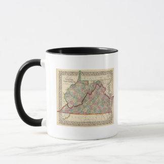 Virginia, Karte W Virginia durch Mitchell Tasse