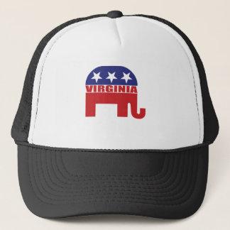 Virginia-Republikaner-Elefant Truckerkappe