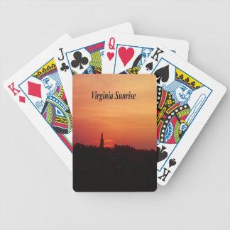 Virginia-Sonnenaufgang Bicycle Spielkarten