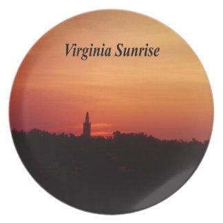 Virginia-Sonnenaufgang Teller
