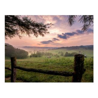 Virginia-Sonnenuntergang Postkarte