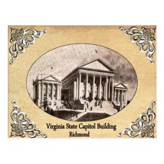 Virginia-Staats-Hauptstadts-Gebäude-alte Postkarte